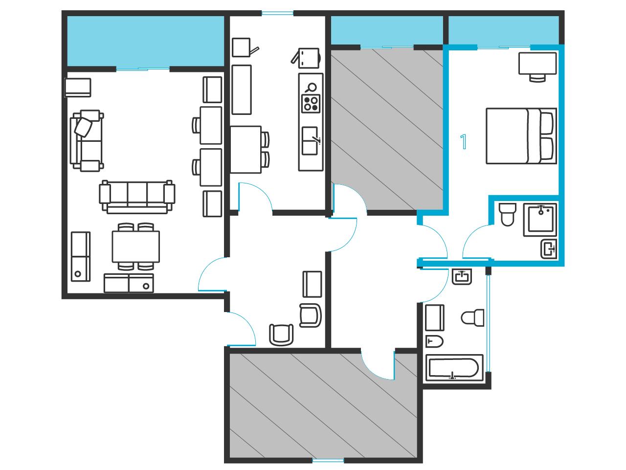 Bad In Slaapkamer Ervaring : Tweepersoons slaapkamer, met balkon, in 3 ...